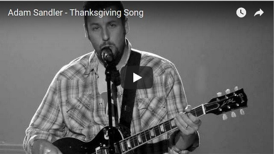 Adam Sandler - Live Performance - Thanksgiving Song.